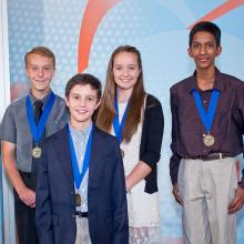 Peyton, Daniel, Brooke and Srijay